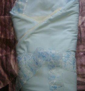 Одеяло на выписку,осень - зима