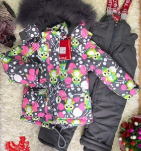 Зимний мембранный костюм для девочки новый