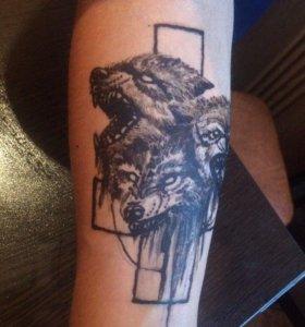 татуировка хной (черная, цветная)