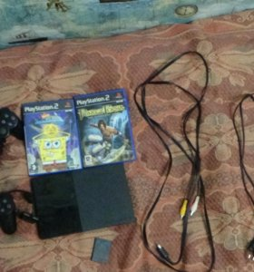 PS2,memore card,2 game ,2 геймплей,2 провода.
