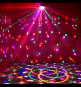 Диско шар LED подсветка для дома