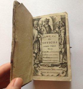 Антикварная книга 17 века, 1638 год, латынь
