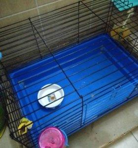 Клетка для грызунов со всеми принадлежностями