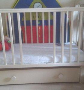 Детская кровать-маятник Кубаньлесстрой