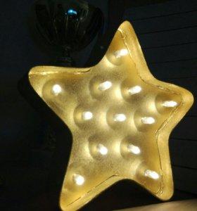 """Ночник """"Золотая звезда"""""""