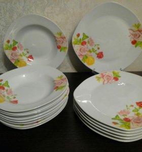 Новый набор тарелок Весна
