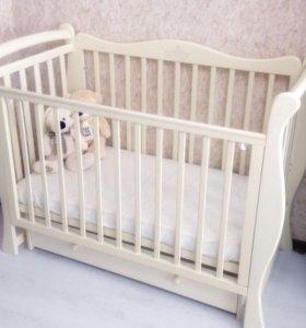 Детская кроватка Rumina Crown поперечный маятник