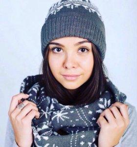 Шапка и шарф (женская)