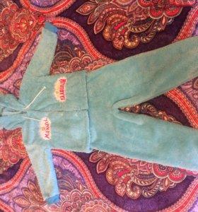 Тёплый костюм из велсофт на 2-3 года