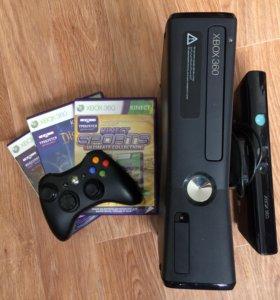Игровая приставка X-box 360+ сенсор Kinect