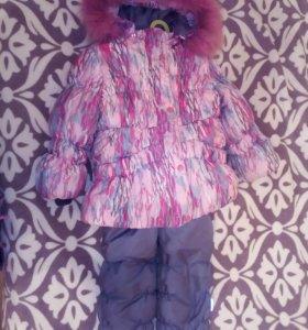 зимний комплект (полукомбинзон, куртка)