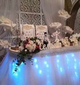 Оформление свадьбы декор флористика