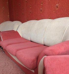 Диван,мини диван и кресло