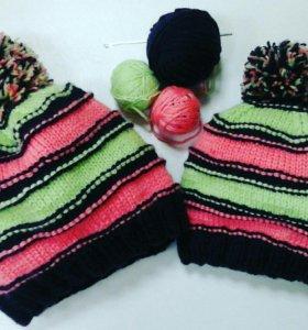 Вязаные шапочки на заказ