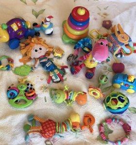 Tiny love, lamaze, fisher price, b'kids игрушки