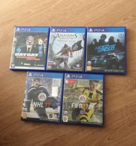 NHL 17,FIFA 17,NFS 2015,payday 2,assassins creed 4