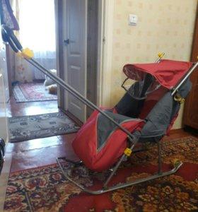 Санки -коляска детские