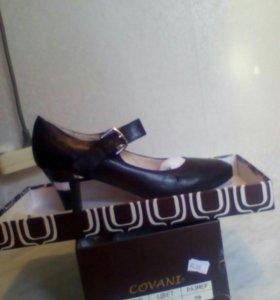 Кожанные туфли новые!