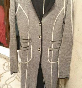 Пальто трикотажное двухстороннее