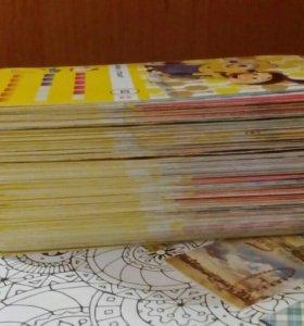 """Карточки """"Миньоны"""" (129 шт. С повторами,см.опис.)"""