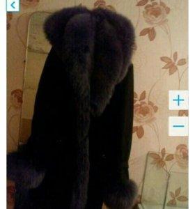 Пальто (осенне зимнее) натуральный мех