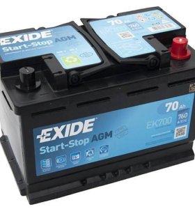 AGM Автомобильный аккумулятор EXIDE EK700
