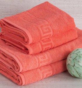 Махровые полотенца, комплект (2 шт)
