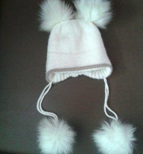 Шапка детская с помпонами (Зима)