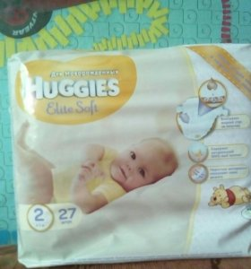 Huggies Elite Soft 2(27шт)