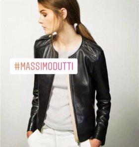 Куртка кожаная Massimo Dutti кожанка