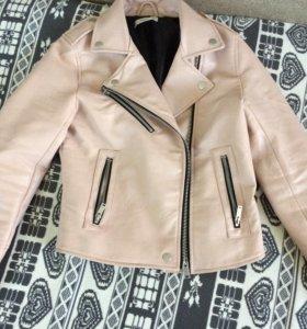 Куртка кожаная косуха женская Mango