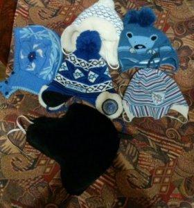 Детские шапки осень-весна и зима.