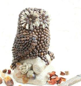 Необычный подарок!кофейная сова