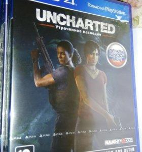 Продам новый uncharted утерянное наследие ps4
