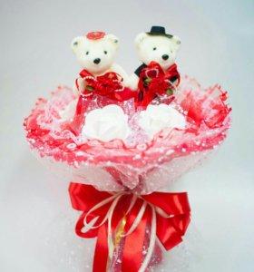 Букет из игрушек на свадьбу
