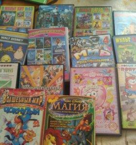 DVD диски, мультики.