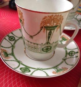 Сервиз чайная пара костяной фарфор