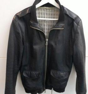 Куртка кожа (синяя)