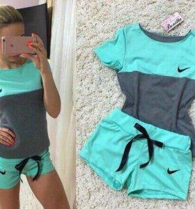 Костюм шорты и футболка Nike