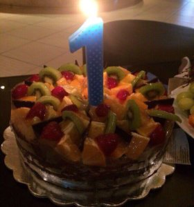 Новые свечи 1 год на торт розовая и синяя