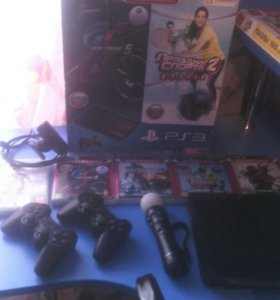 Sony PlayStation 3 super slim 500GB + ps move