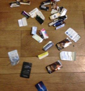 Фишки(от сигаретных пачек)