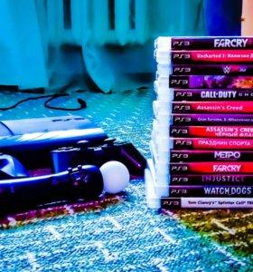 14 игр+Sony PlayStation 3 Slim 500 ГБ