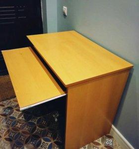 Стол компьютерный с полочкой