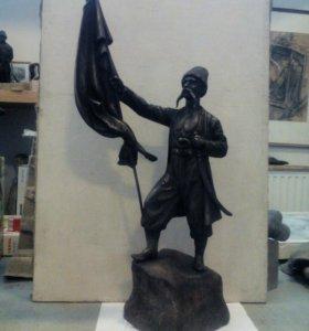 Скульптура бронза литье Казак Таманский