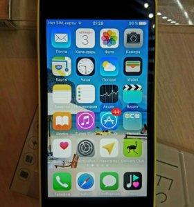 Apple iPhone 5C Yellow 16Gb со стеклом и чехлом