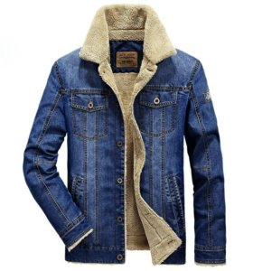 Мужская джинсовая куртка утепленая XL Afs (новая)