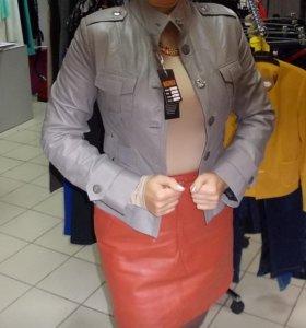 Новая куртка-жакет из натуральной кожи