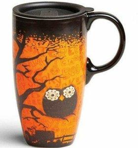 Кружка Halloween Owl с крышкой