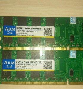 Оперативная память DDR2 4 gb для amd процессоров